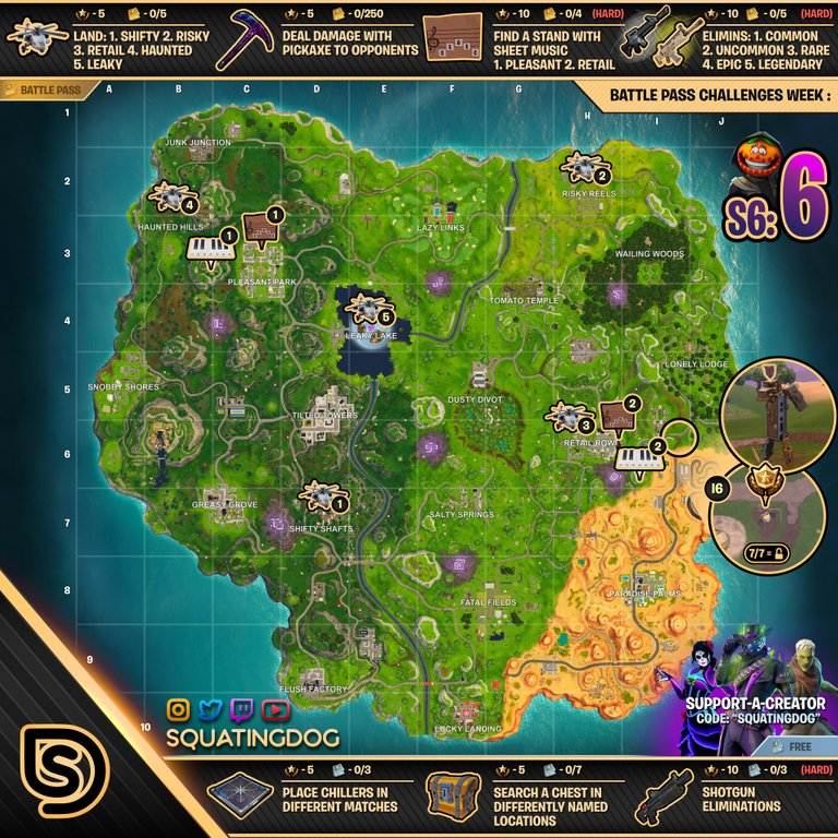 Season 6 Week 6 Cheat Sheet