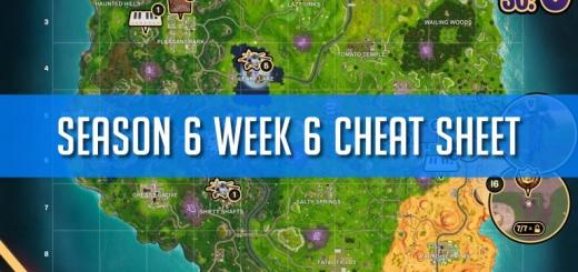 Fortnite Season 6 Week Chat Sheet Cover