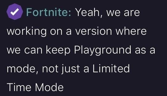 Fortnite Confirms LTM Playground Work in Progress