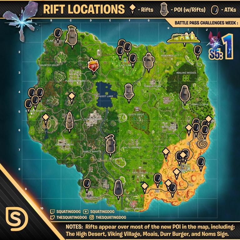Fortnite Rift & Golf Cart Locations