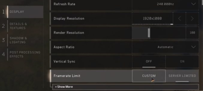 Blackout FPS Frame Limit