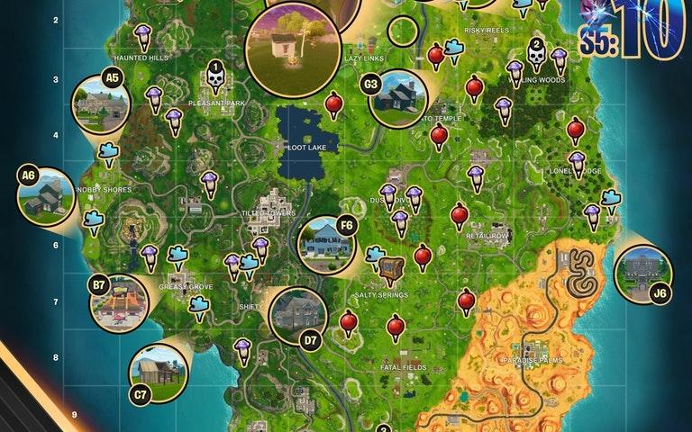 Fortnite Season 5 Week 10 Challenges
