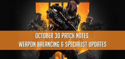 Black Ops 4 October 30 Update
