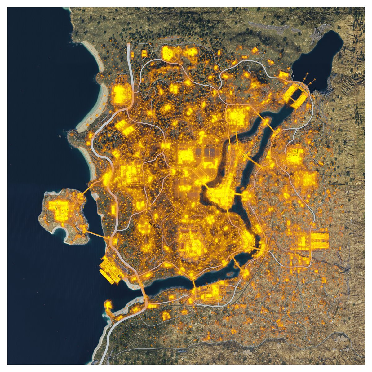 Blackout Heat map / Action Map