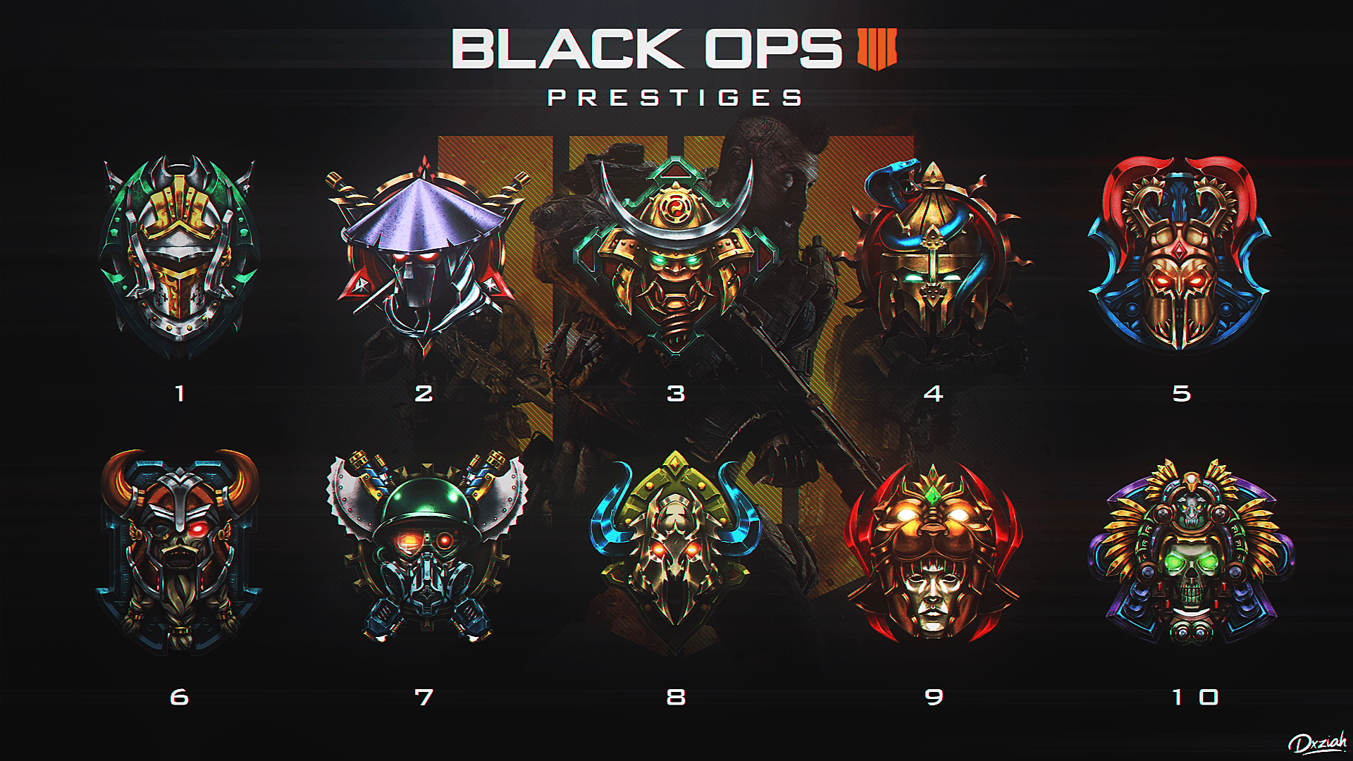 Call of Duty Black Ops 4 Prestige Emblems