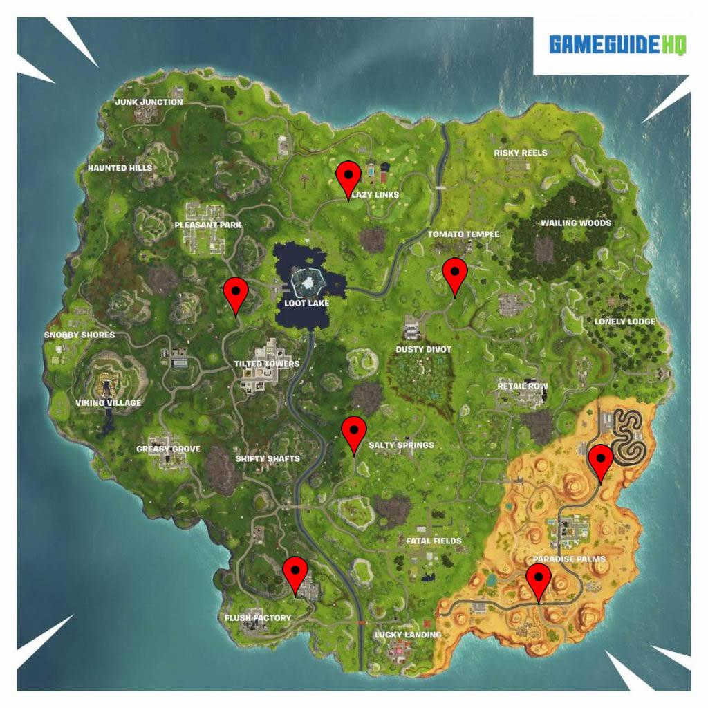 Fortnite Radar Locations Map