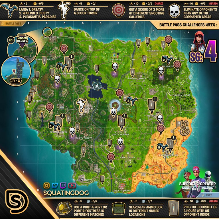 Season 6 Week 4 Cheat Sheet