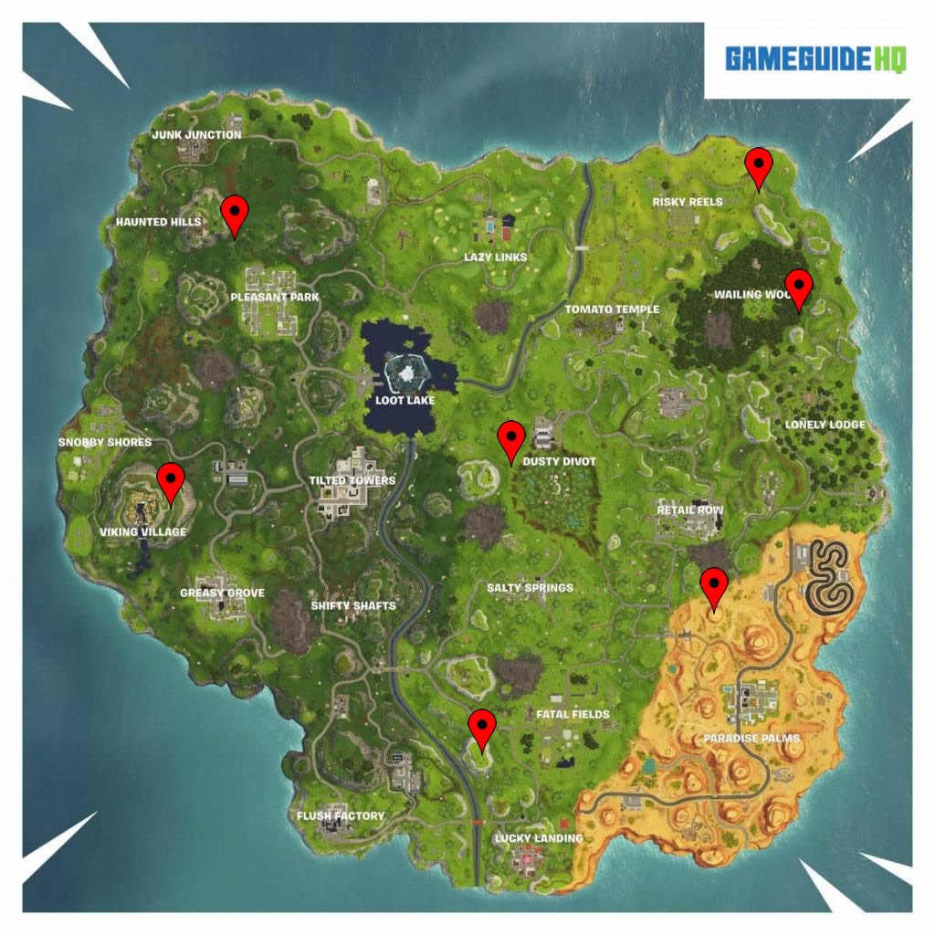 Fortnite Season 6 Week 4 Shooting Gallery Locations