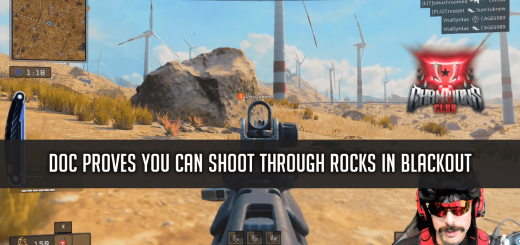 Doc Shooting Through Rocks