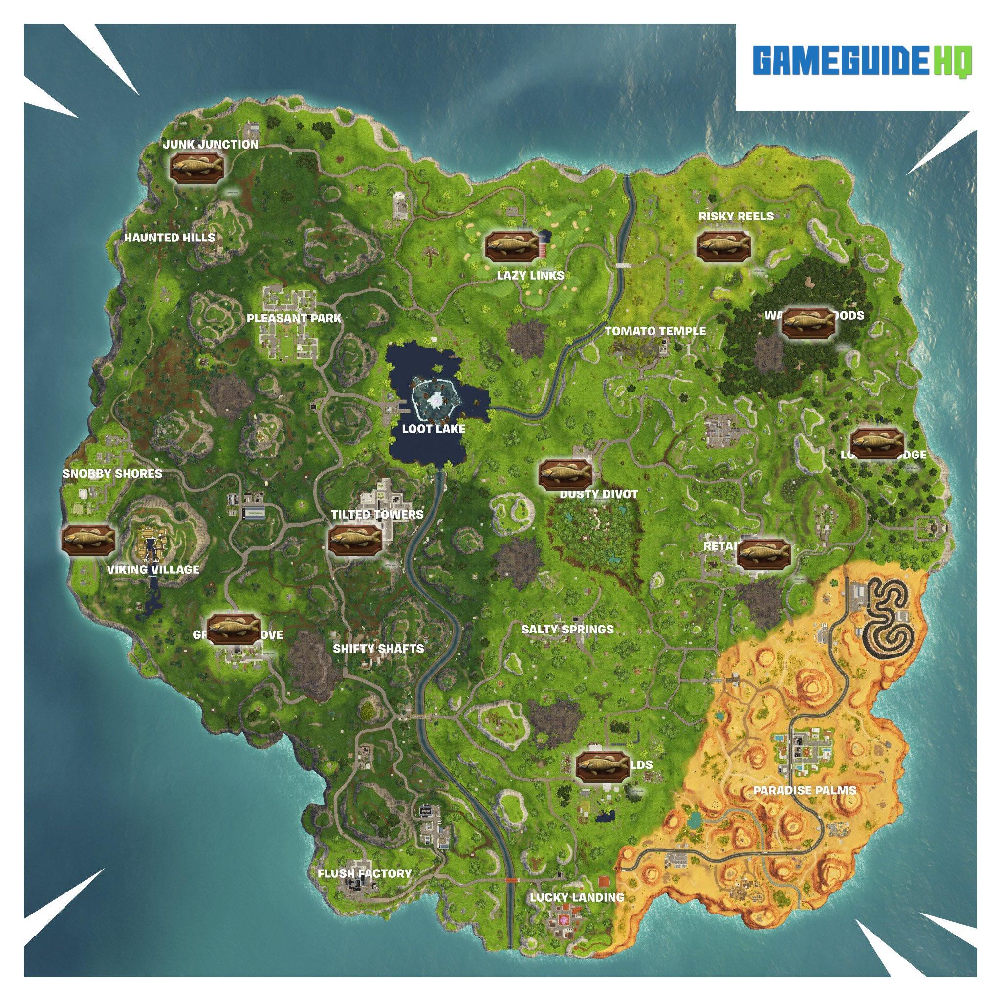 Fortnite Fish Trophy Map