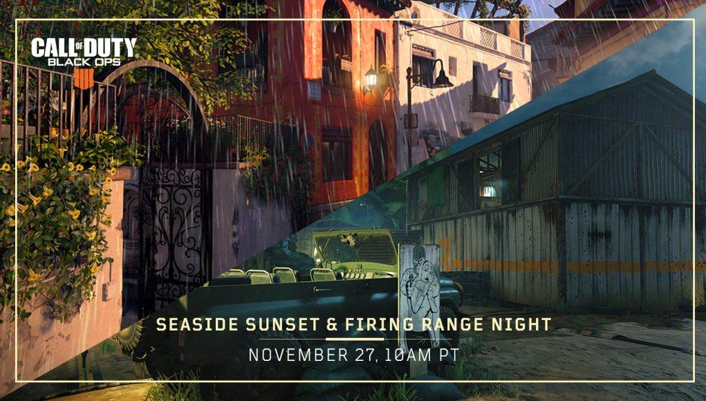 Black Ops 4 Sunset Seaside and Night Time Firing Range