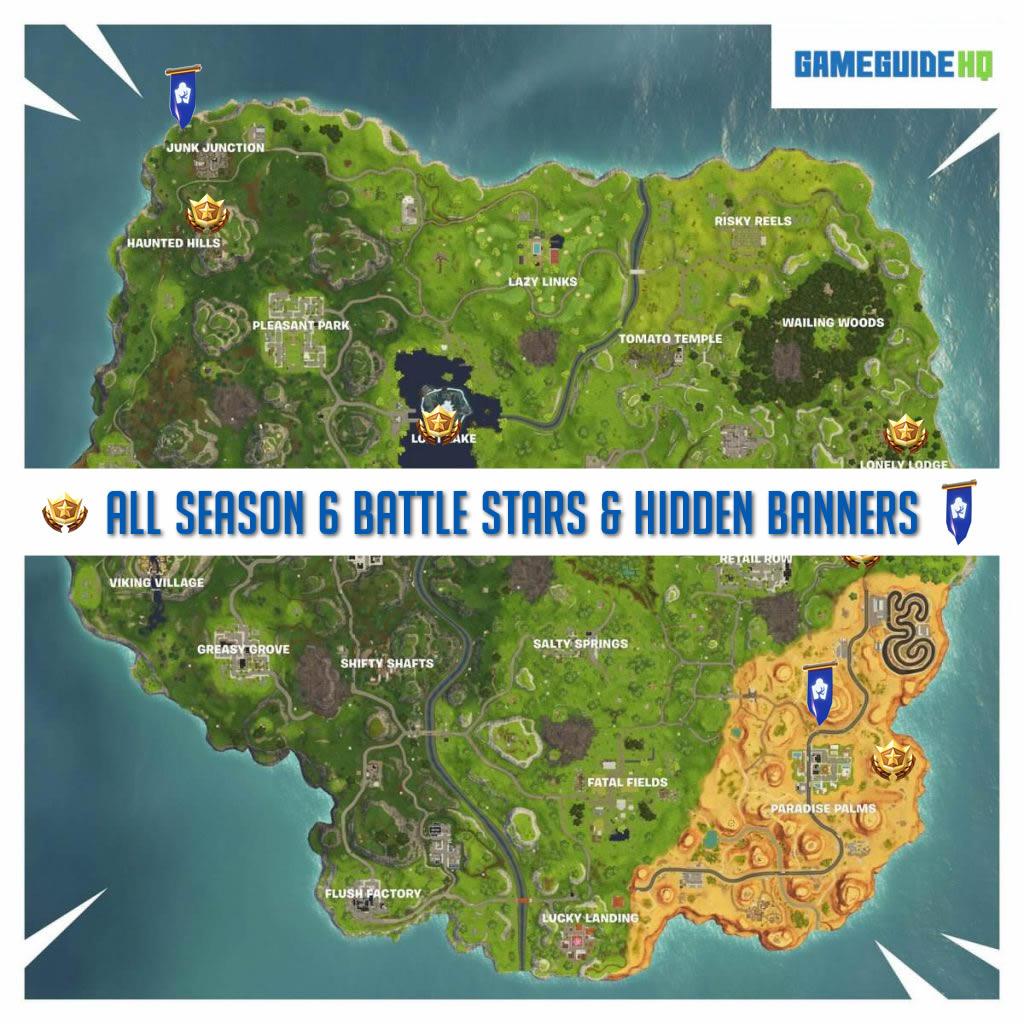 All Secret Battle Stars Hidden Banners In Fortnite Season 6 Week