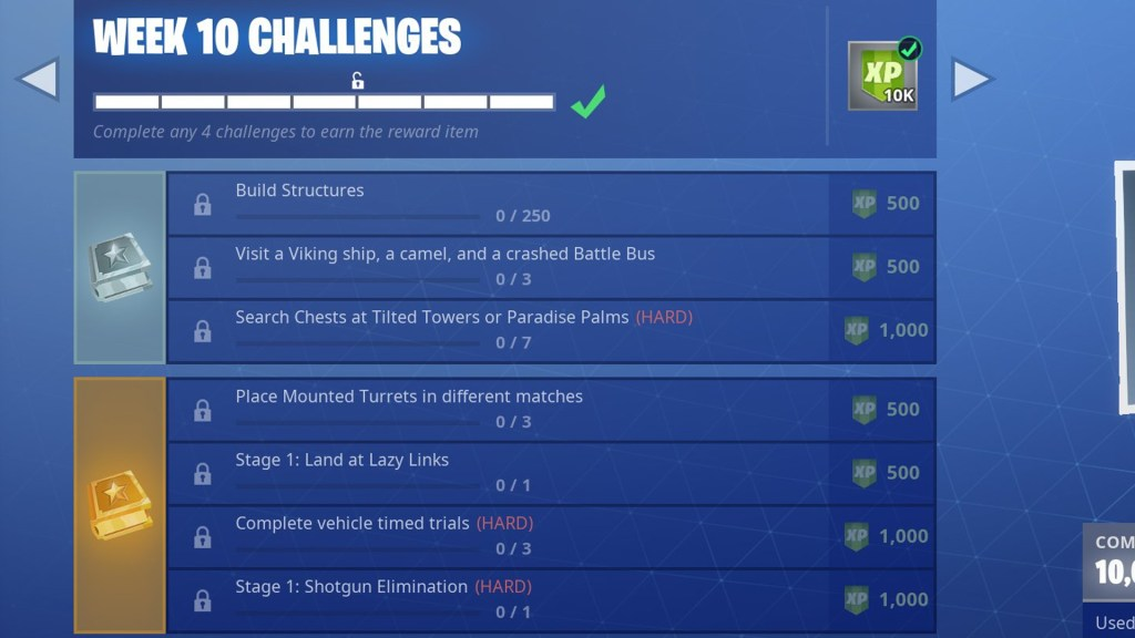 Fortnite Season 6 Week 10 Leaked Challenges