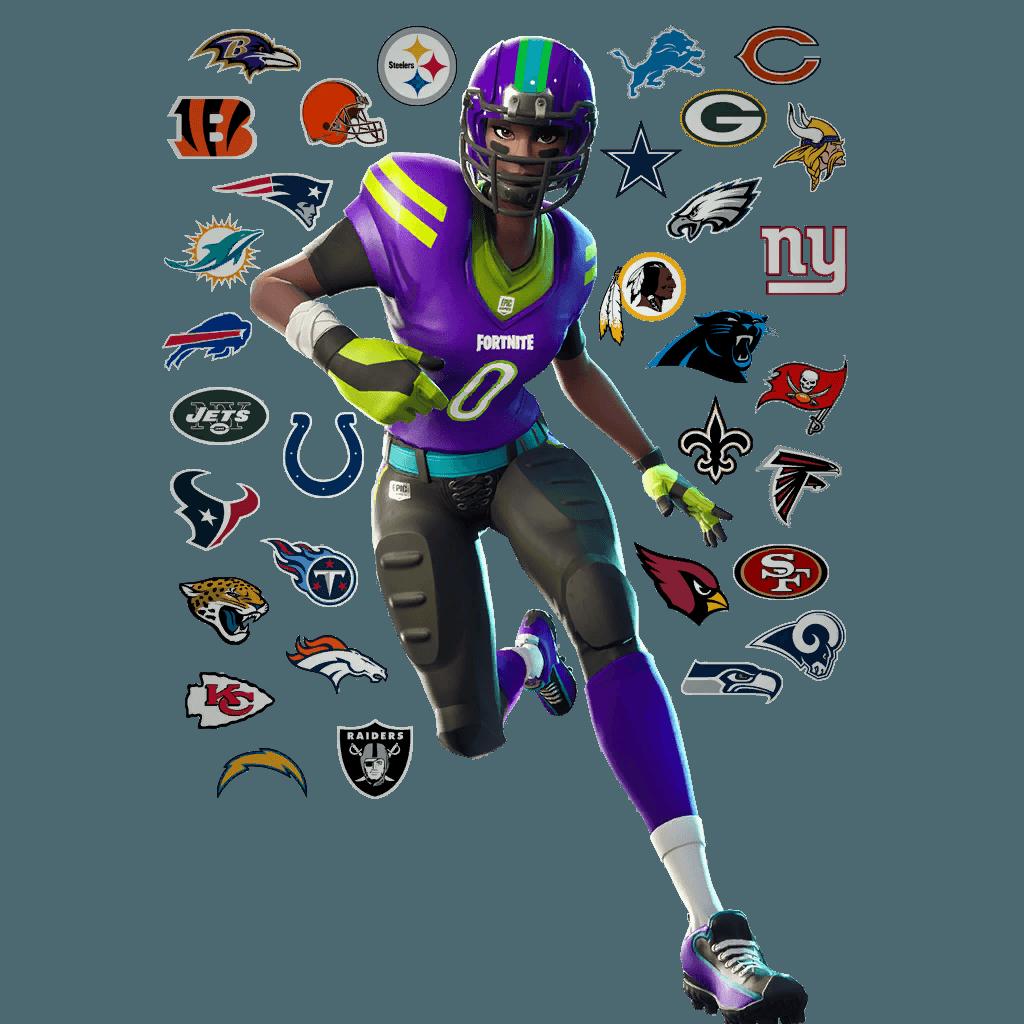 Leaked Fortnite NFL Player & Ref Skins, Emotes, Gliders ...