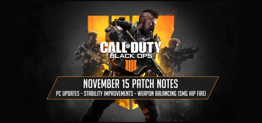 November 15, 2018 Patch Notes