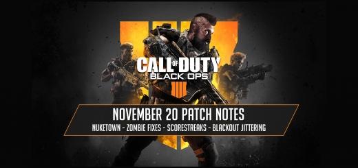 Black Ops 4 November 20 Update - V1.07