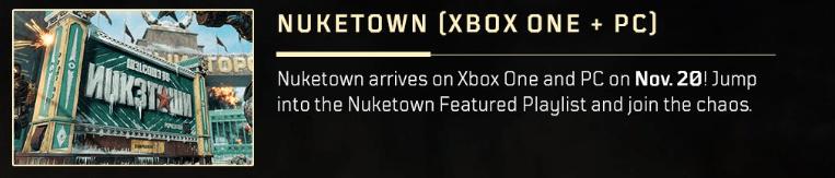 Nuketown PC Date Announcement