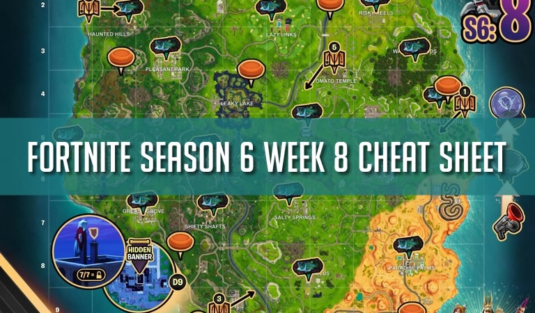 Fortnite Season 6 Week 8 Cheat Sheet Cover