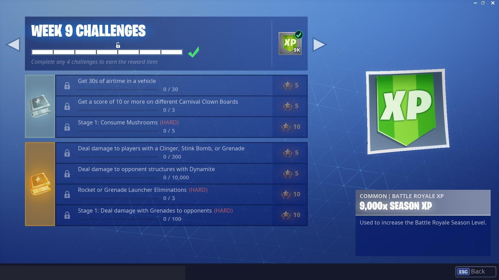Season 6 Week 9 Challenges
