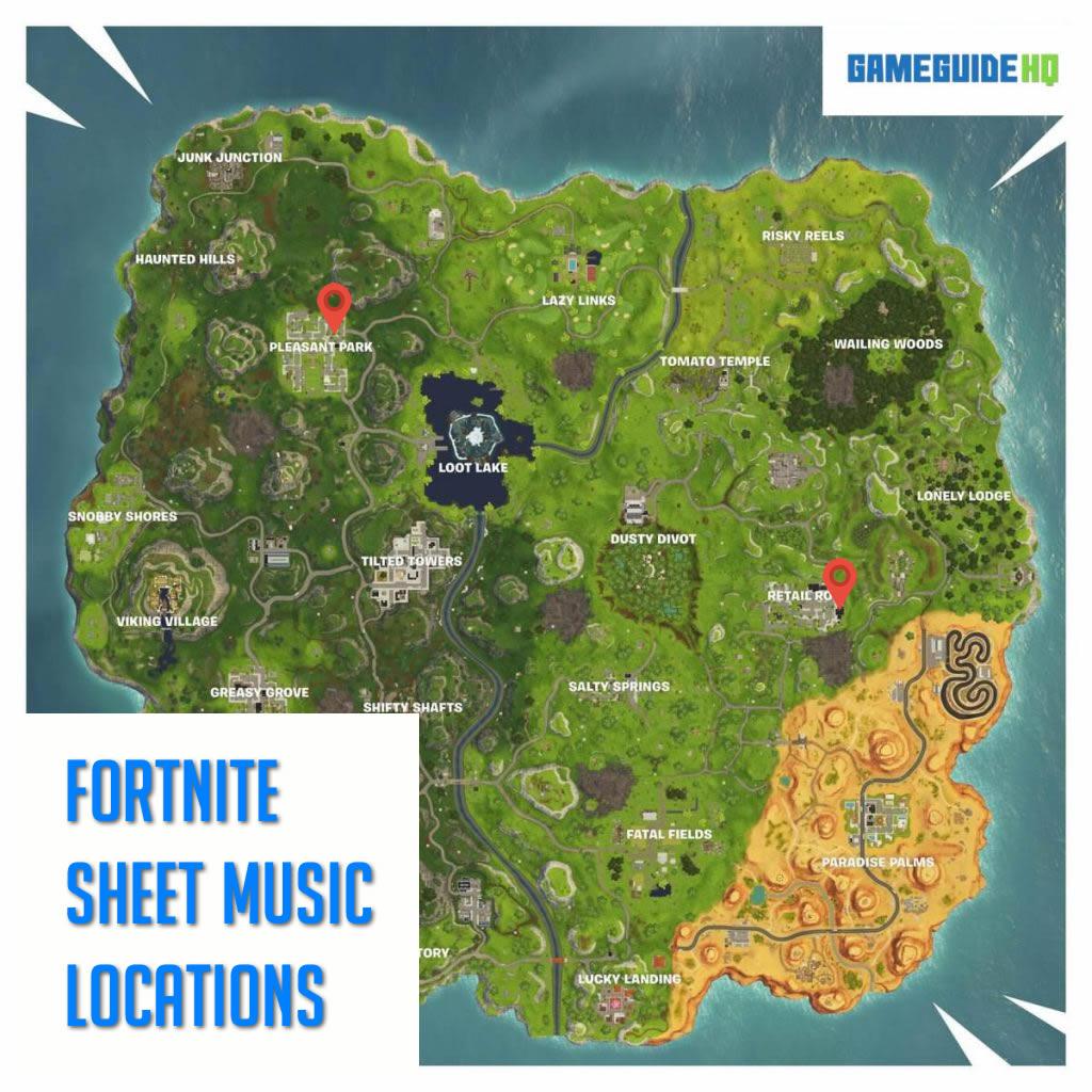 Fortnite Sheet Music Locations