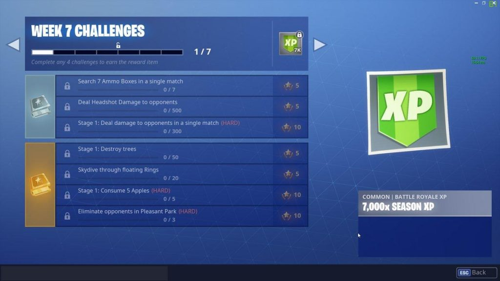 Fortnite Season 6 Week 7 Challenges
