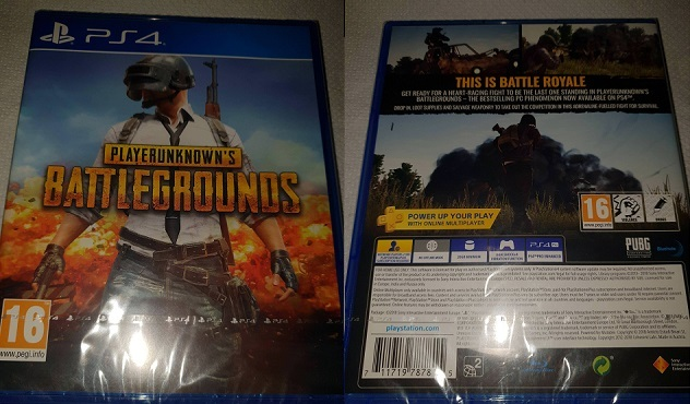 The front and back cover for PUBG on the PS4. Image from: u/Tastes-Jammy