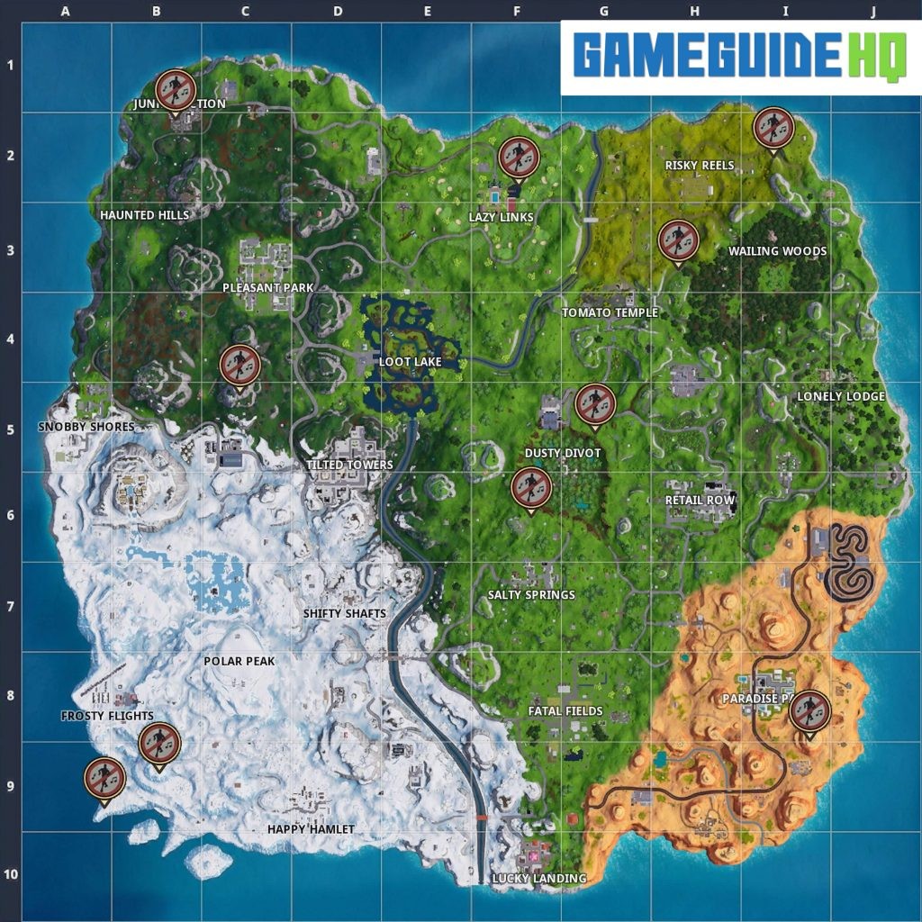 Fortnite Season 7 Forbidden Locations Map