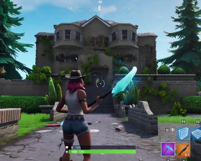 fortnite mansion from front - mansion fortnite