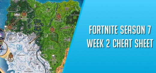 Fortnite Season 7 Week 2 Cheat Sheet Cover