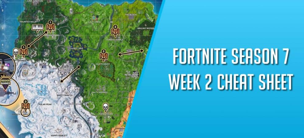 Fortnite Season 7 Week 2 Cheat Sheet Cover