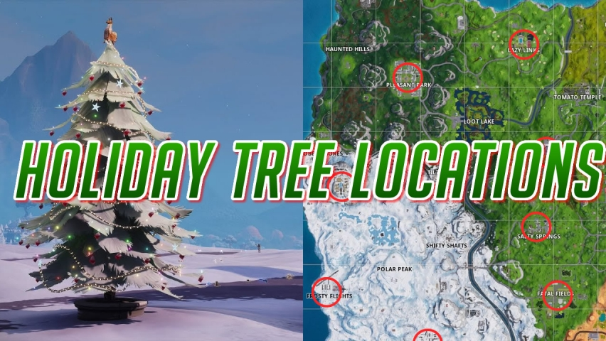 Fortnite Holiday Tree Locations