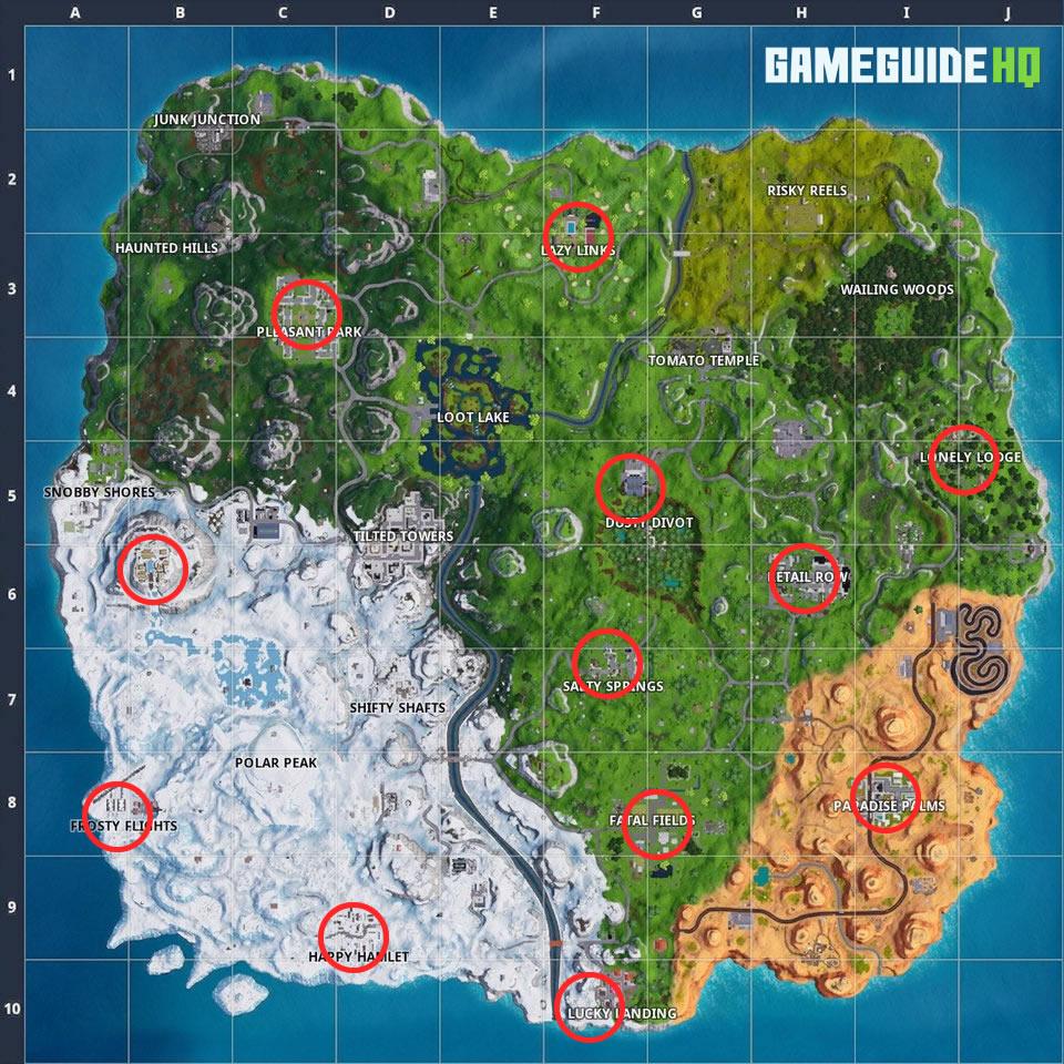 Fortnite Holiday Tree Locations