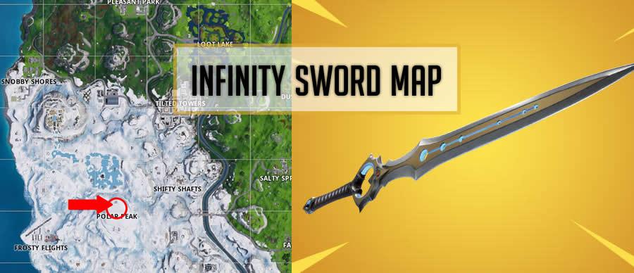 Fortnite Infinity Blade Sword Location Map Gameguidehq