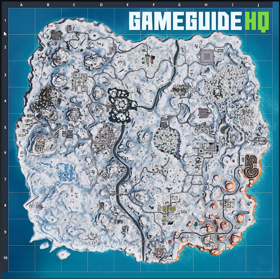 Fortnite Map Covered in Snow Leaked