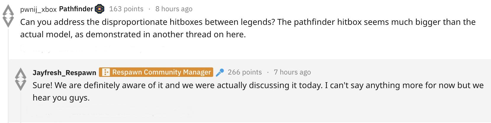 Apex Legends Developers on Pathfinder Size