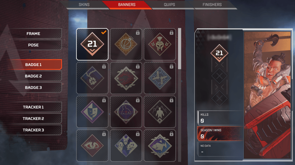 Apex Legends April 3 - Customize Legends UI Improvement