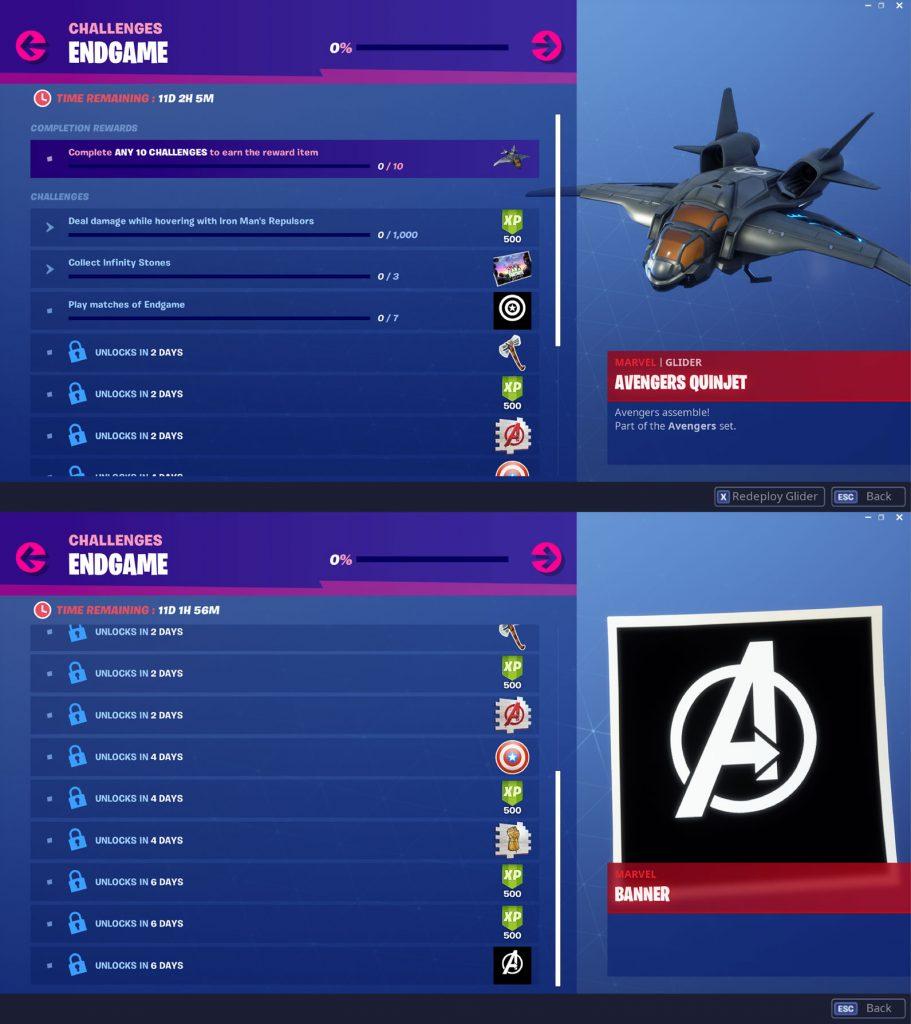 Fortnite Endgame Challenges & Rewards