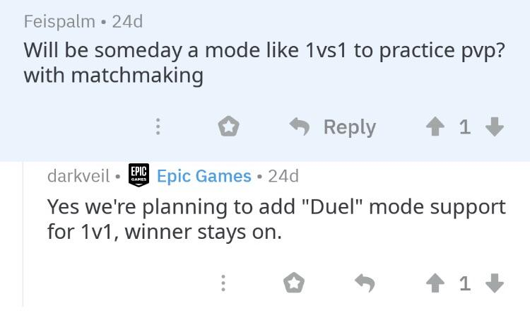 Fortnite Duel 1v1 Mode Confirmed