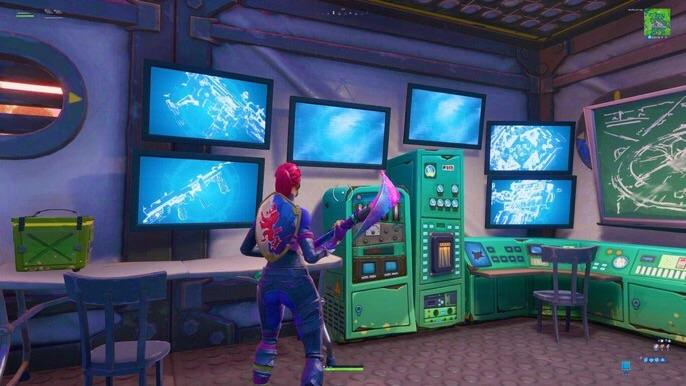 Tactical SMG on Loot Lake Bunker TVs