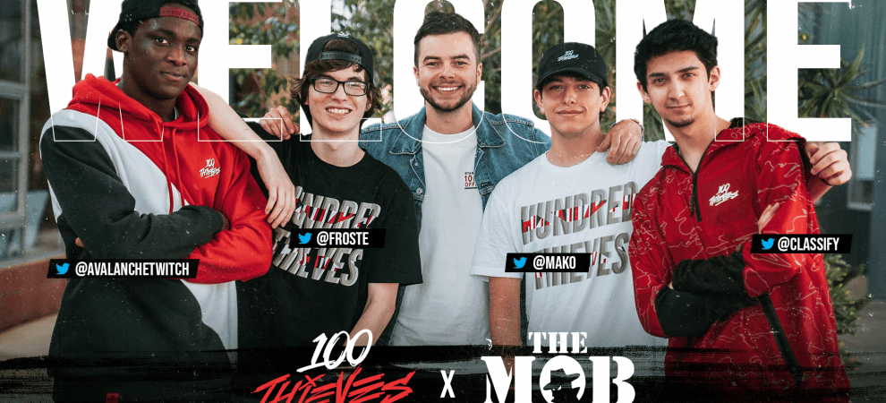 The Mob Join 100 Thieves Content Team