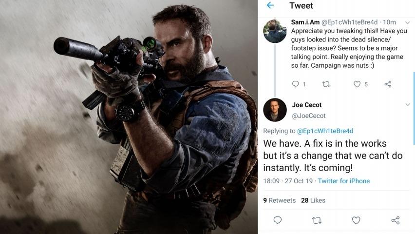 Modern Warfare Dead Silence Fix