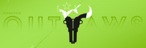 Houston Outlaws Wallpaper Green